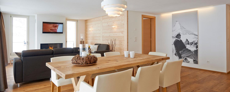 wohnen im apartment h rnligrat hotel welschen zermatt. Black Bedroom Furniture Sets. Home Design Ideas